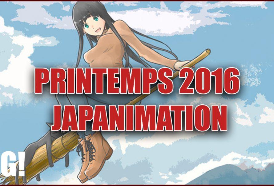 Premier retour du Printemps 2016 de la Japanimation