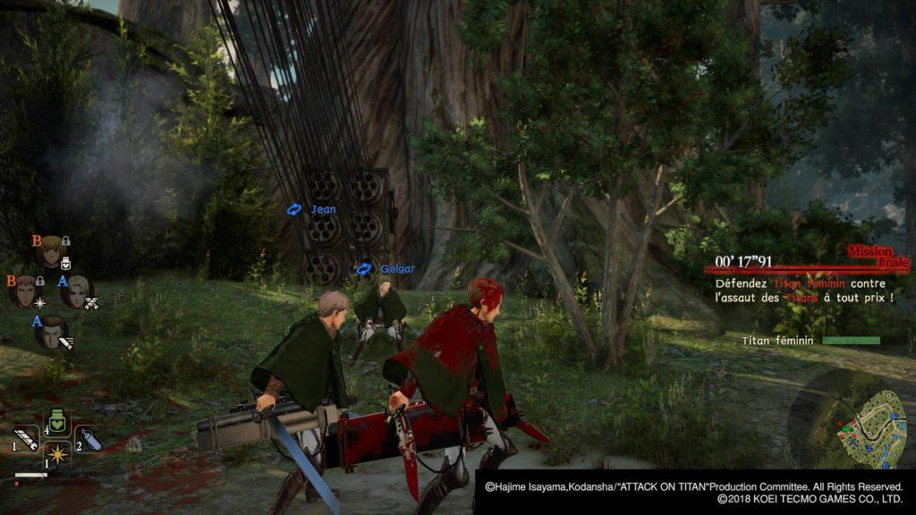 a.o.t 2 l'attaque des titans 2 screenshots test