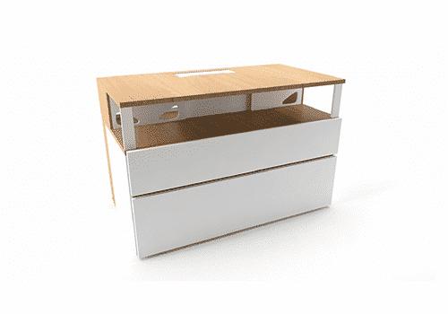 Industriel meuble TV 100 cm blanc – 490€