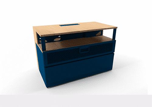 Industriel meuble TV 100 cm bleu – 525€