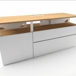 Geeko Industriel meuble TV 150 cm blanc