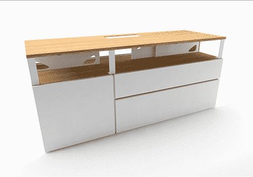 Industriel meuble TV 150 cm blanc – 590€