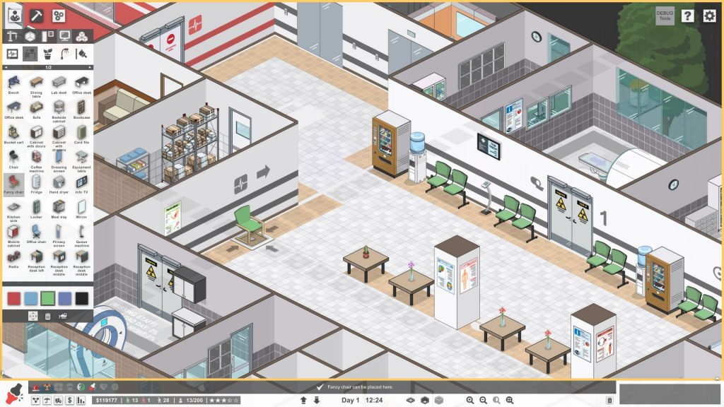 Project Hospital test screenshot
