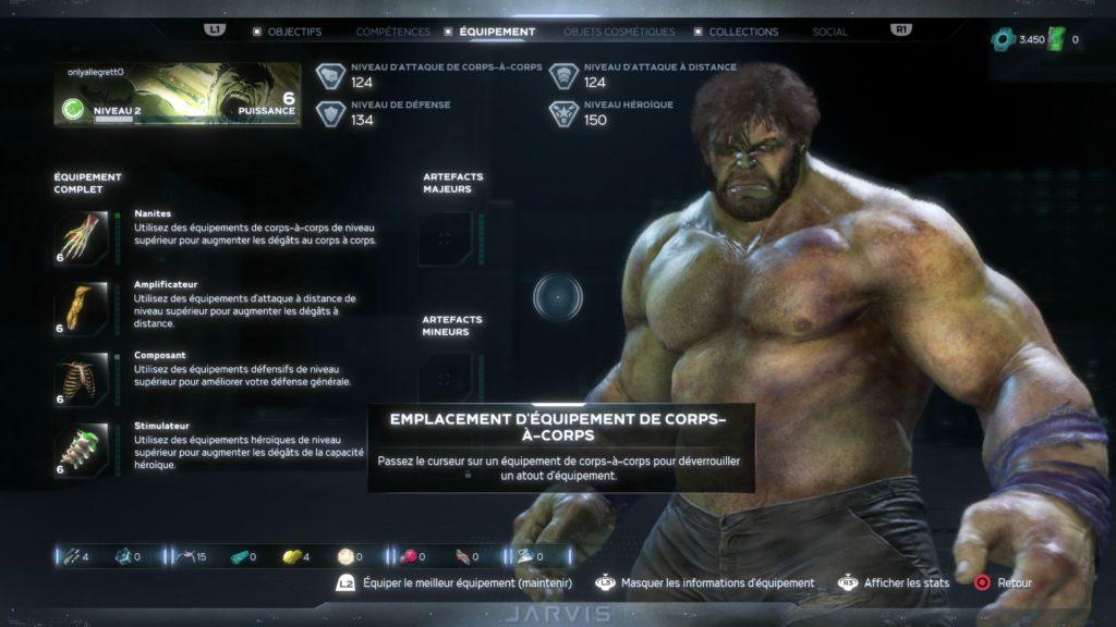 Marvel's Avengers - Panneau équipement Hulk